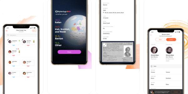 myheritage avis application mobile